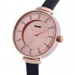 SKMEI 1184CL Gold Case  Black