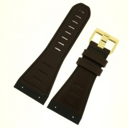 Watch Strap BISSET BSCD29 Brown